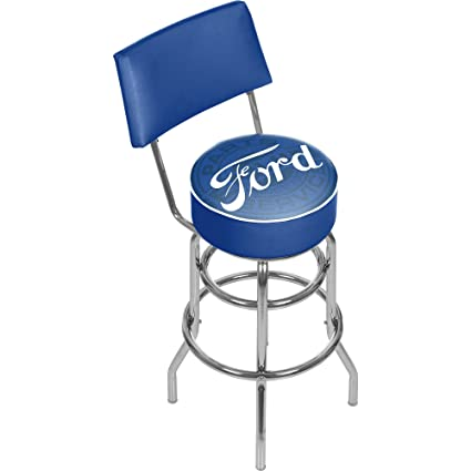 Amazon Com Trademark Gameroom Ford Swivel Bar Stool With Back