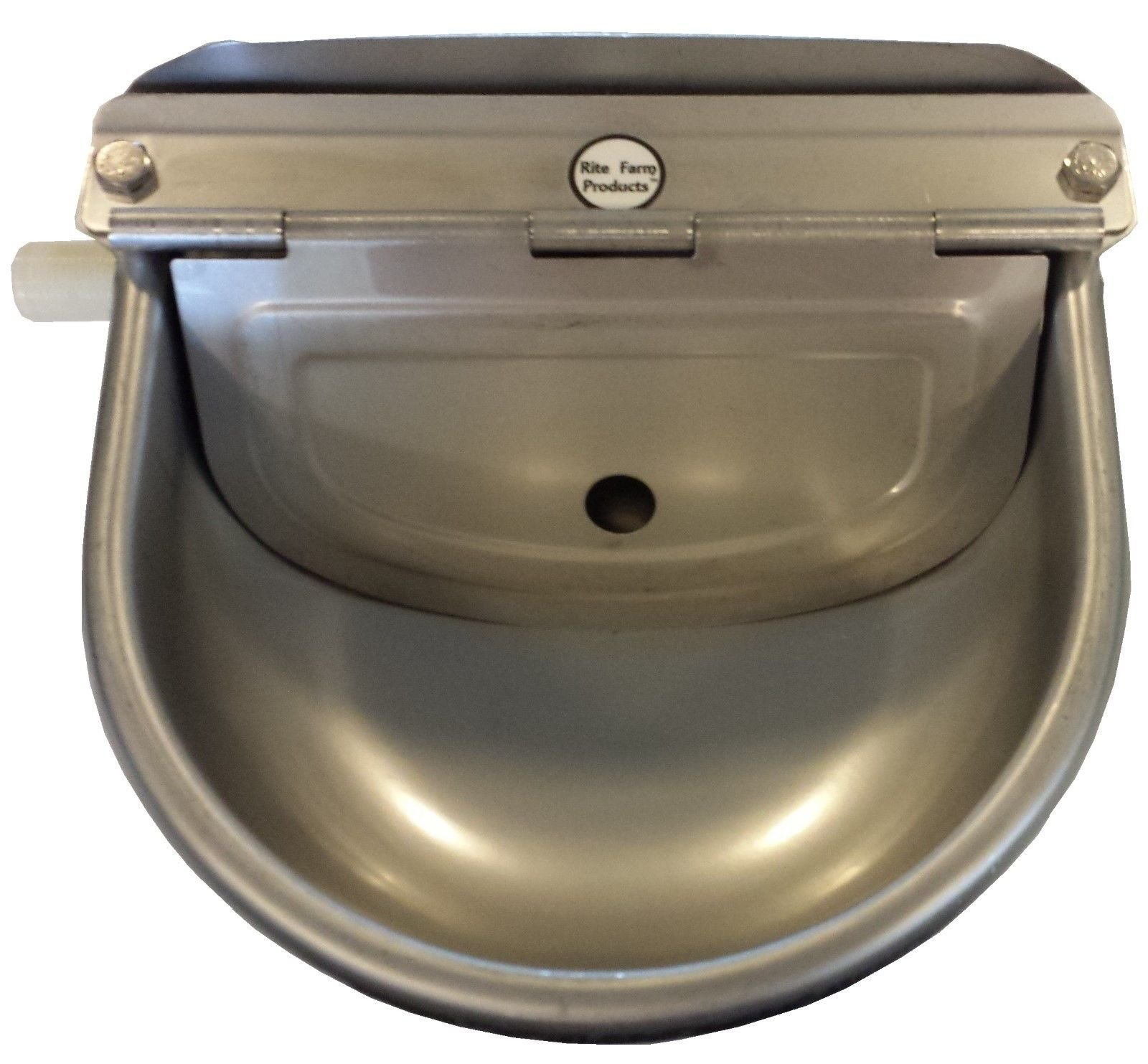 RITE FARM PRODUCTS STAINLESS STEEL AUTOMATIC STOCK WATERER HORSE CATTLE GOAT SHEEP HOG PIG LAMB LIVESTOCK DRINKER BOWL