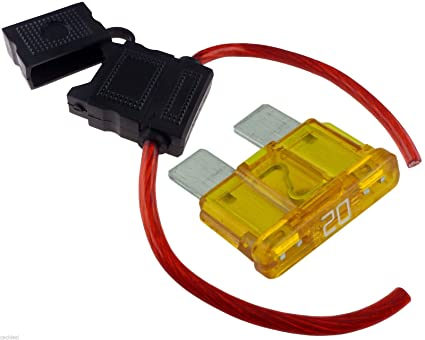 71NcMMaiQKL._SX425_ 8 gauge inline maxi fuse holder with 20 amp fuse with cover new