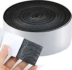 "Twdrer 1 Pack Self Adhesive Felt Tape Polyester Heavy Duty Felt Tape Wood Floor Protector for Furniture and Hard Surfaces,1.96"" x 0.04"" x 32.8'"