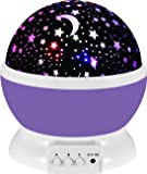 UINSTONE Night Lights, 360 Degree Rotating Star Sky Projector Night Lights,For Baby/Children/Kids Bedroom Christmas Baby Gifts Nursery Lights-9 Light Color Changing With 4.9 FT (1.5 M) USB Cable