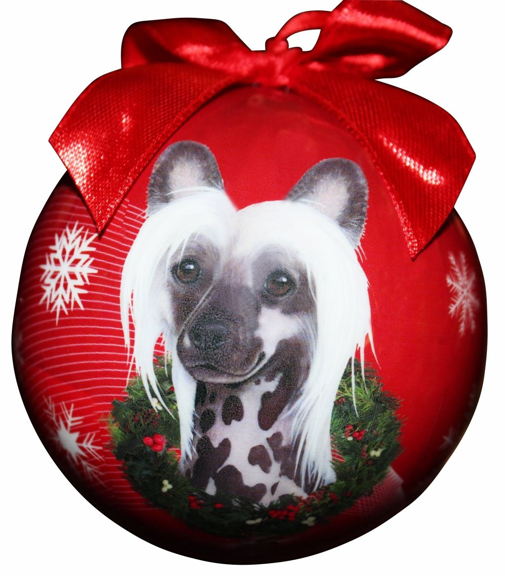 Chinese Crested Christmas Ornament Shatter Proof Ball Easy To Personalize A Perfect Gift For Chinese Crested Lovers E/&S Pets