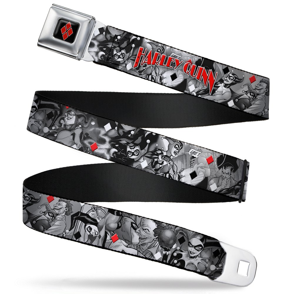 Buckle Down Boys' Seatbelt Belt Harley Quinn Wjk042
