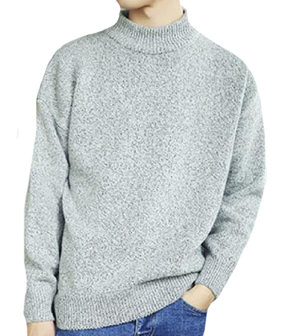Honey GD Mens Wild Breathable Relaxed-Fit Turtleneck Jumper Pullover