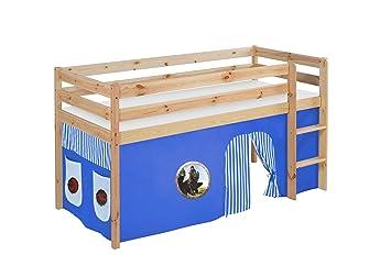 Etagenbett Vorhang Blau : Etagenbett blau rot weiß mit vorhang und lattenroste