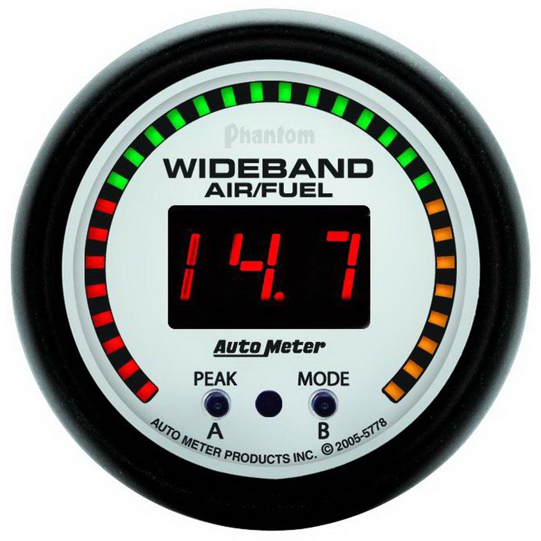 Auto Meter 5778 Phantom 2-1/16'' Wideband Air/Fuel Ratio Gauge Kit with Sensor