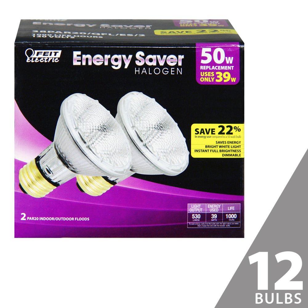 Feit 38PAR20/QFL/ES/2 50W Equivalent Energy Saving Halogen PAR20 Reflector (Pack of 12)