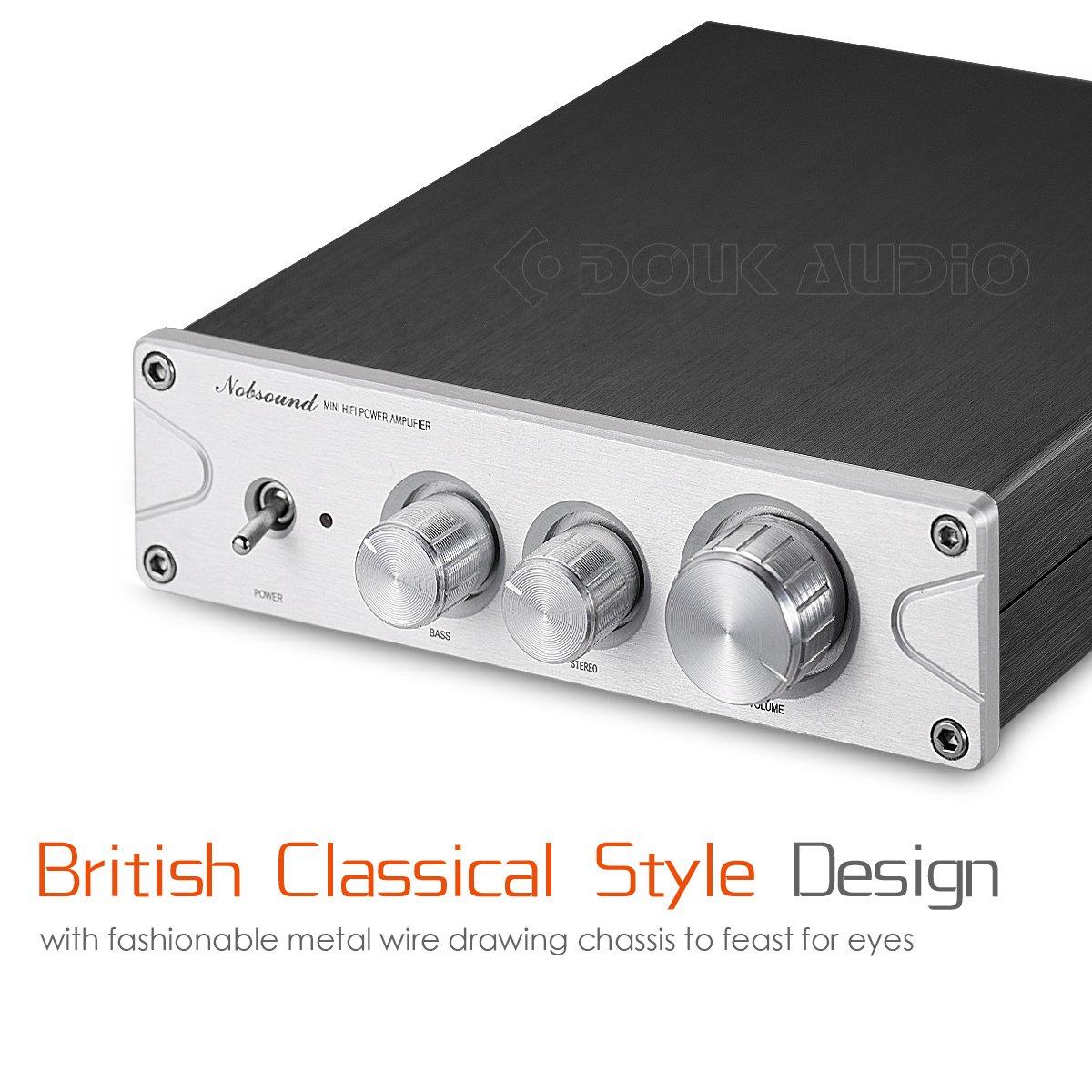 nobsound 200 W (100 W × 2) Bluetooth 5.0 atpx HD Power Amplifier Clase D Amplificador Estéreo Digital Amp Treble Bass Tone Control Audio: Amazon.es: ...