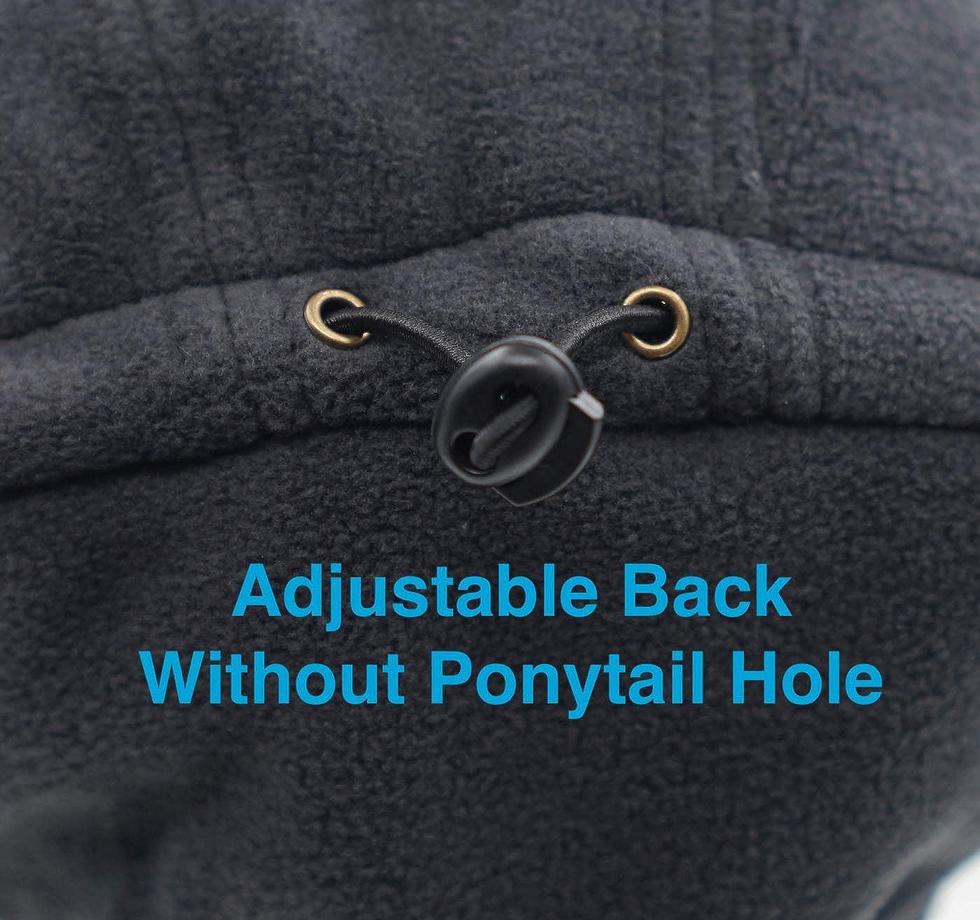 Home Prefer Winter Warm Skull Cap Outdoor Windproof Fleece Earflap Hat with Visor