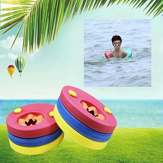 Kids brazo flotador discos, hometom natación brazo bandas anillos flotadores para piscina bebé niños niños Pack de 6: Amazon.es: Hogar