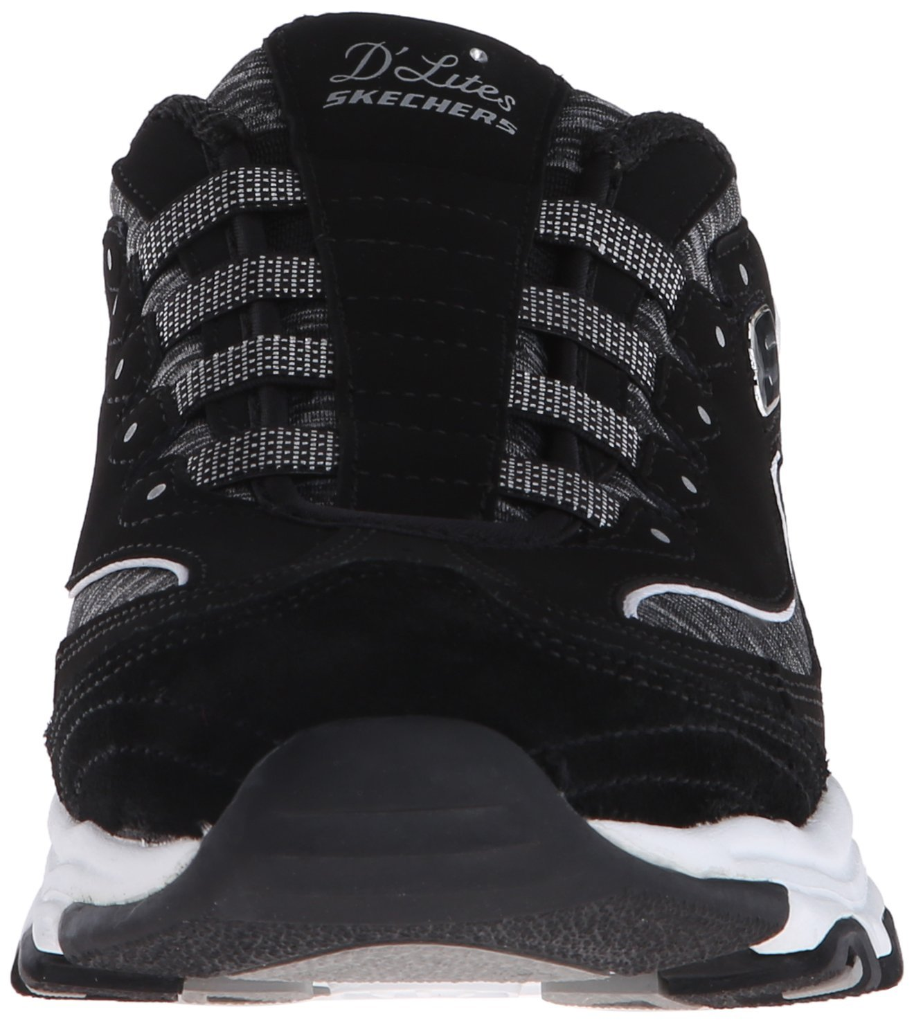 Skechers Sport Women's D'Lites Slip-On Mule Sneaker B019FV0SX8 9 B(M) US Black/White