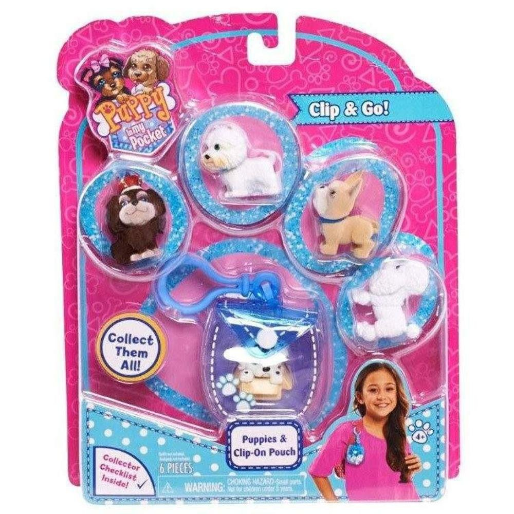 2016 Series Puppy In My Pocket Puppies with Clip On Pouch JPL48604