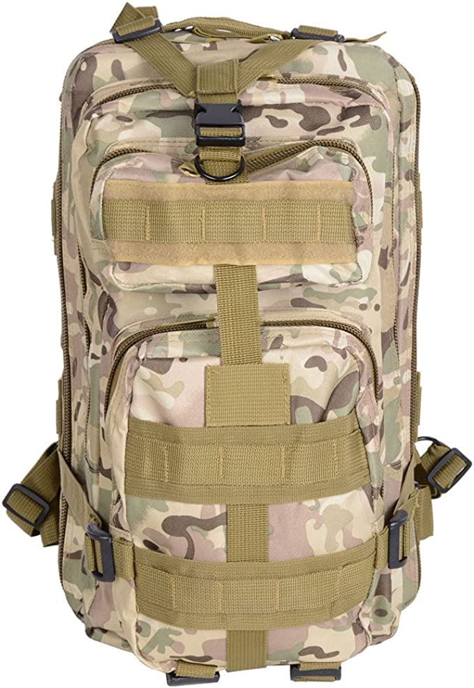 600D MOLLE Camo Backpack