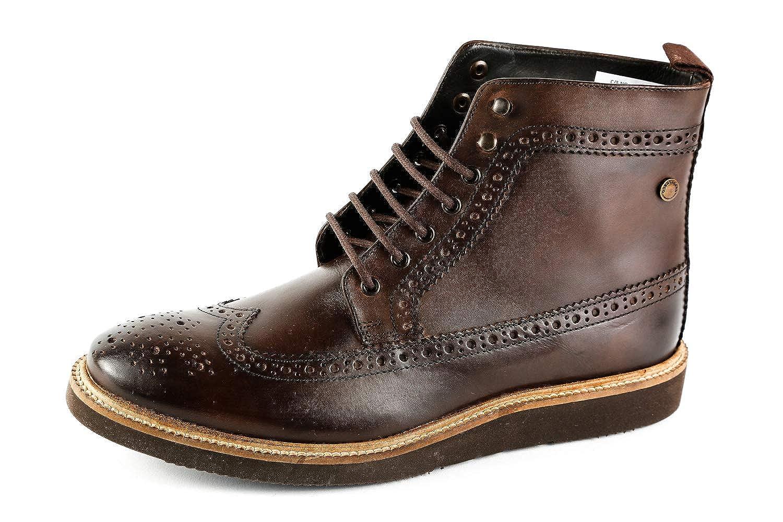 Base London Herren Nebula Budapester Boots Braun