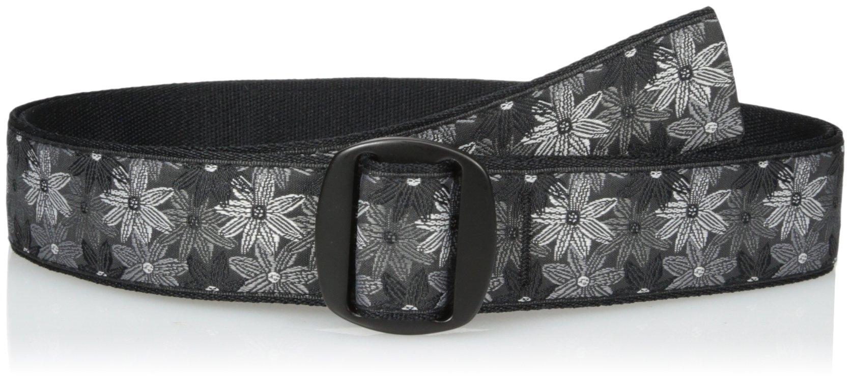 Bison Designs Women's Manzo Belt with Anodized Aluminum Buckle, Flower, Medium/38-Inch