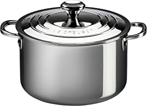 Le Creuset SSP3100-20 Tri-Ply Stainless Steel Casserole with Lid, 4-Quart