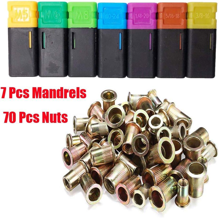 Metric /& SAE W// 70pc Rivnuts TWT 13 Hand Rivet Nut Setter Kit