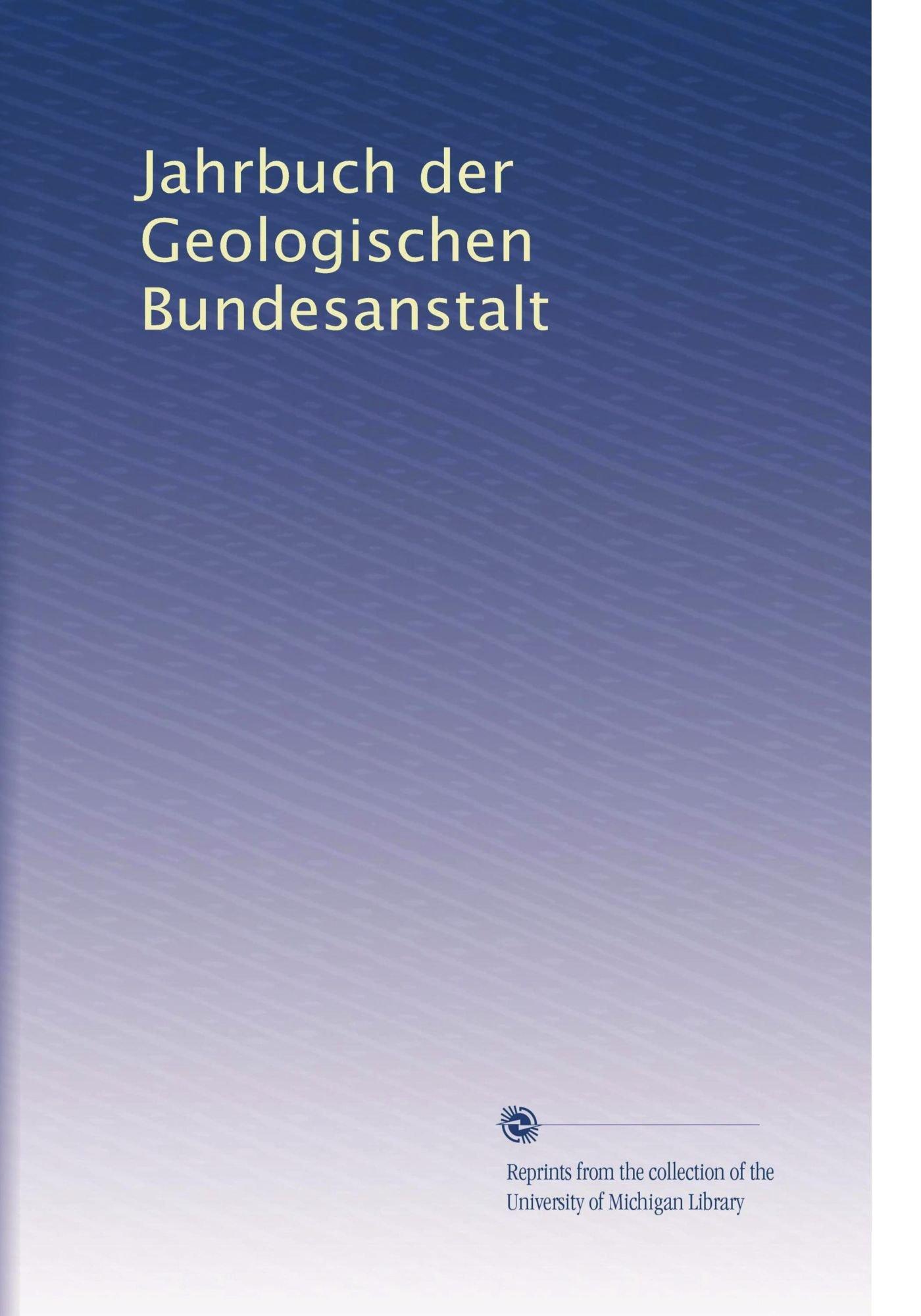 Jahrbuch der Geologischen Bundesanstalt (German Edition) ebook