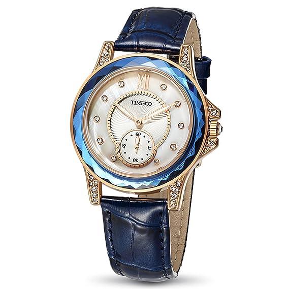 Time100 W80127L.04A 2017 Reloj Blanco Moderno Básico de Pulsera para Mujer: Amazon.es: Relojes