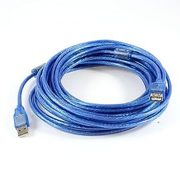 10M USB 2.0 un varón al cable de extensión femenino azul claro ...