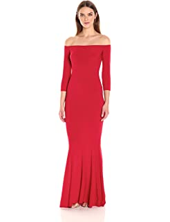 123bbfdd6ccc0 Norma Kamali Women's Off Shoulder Fishtail Gown Raw Edge at Amazon ...