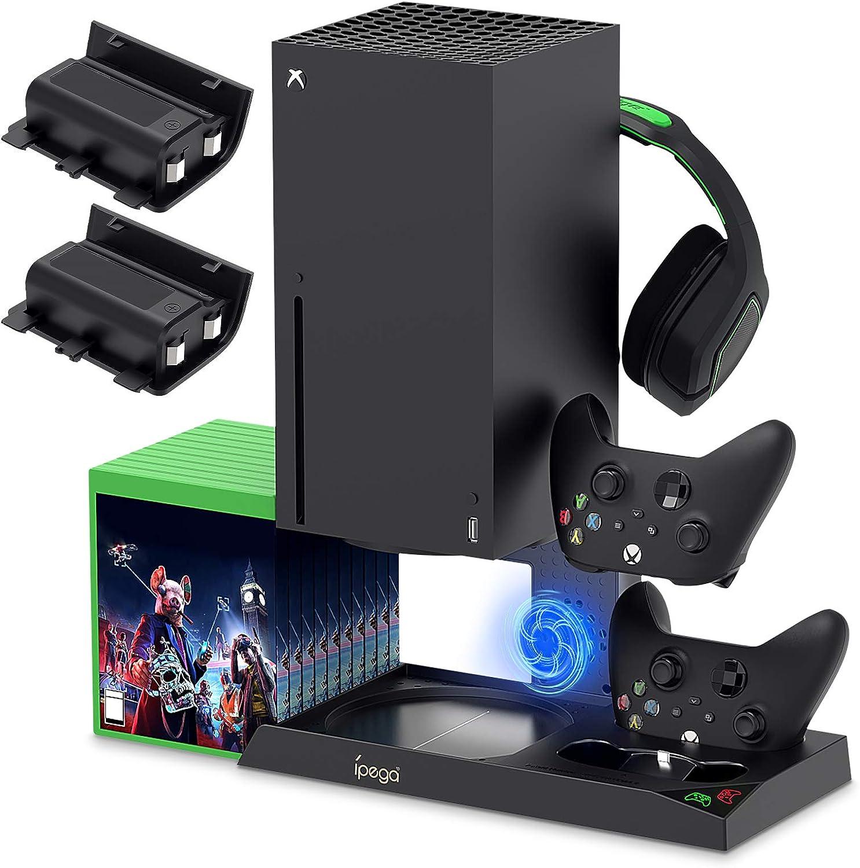 Base 2 en 1 cooler y carga de controles para Xbox Serie X