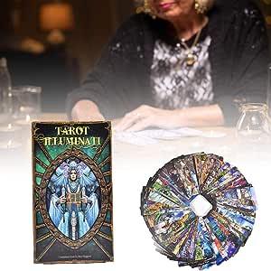 Humflour 78 cartas de tarot para principiantes, baraja vintage Tarot Illuminati Kit de cartas inglesas de juego de cartas intuitivas de Tarot Tarot Tarot Tarot Tarot caja de 3.93 x 2.95 x