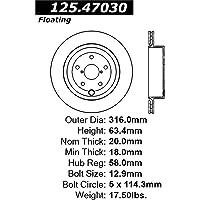 StopTech 125.47030 Premium Brake Rotor