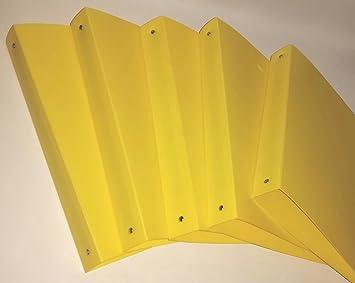 5 x archivador DIN A4 Amarillo 4 orificios 40 mm para el colegio y Oficina de
