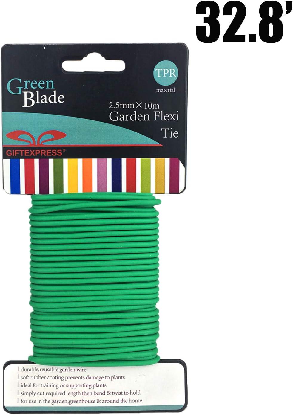 GiftExpress Garden Soft Wire Tie 32.8', Garden Plant Tie, Light Duty Flexi Tie, Plant Twist Ties