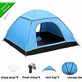 FITFIRST Tienda de Campaña para 3-4 Personas A Prueba de UV/Viento Fuerte/Lluvia con Bolsa Fácil Montaje para Aire Libre, Camping, Playa, Aventura, etc.