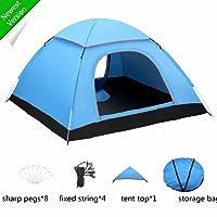 FITFIRST Automatisches Wasserdichtes Zelt für 3-4 Familien Camping, Leicht Pop-up, baut Sich Selbst auf,mit Netzstoff und Regenvordach, für Camping und Den Außenbereich