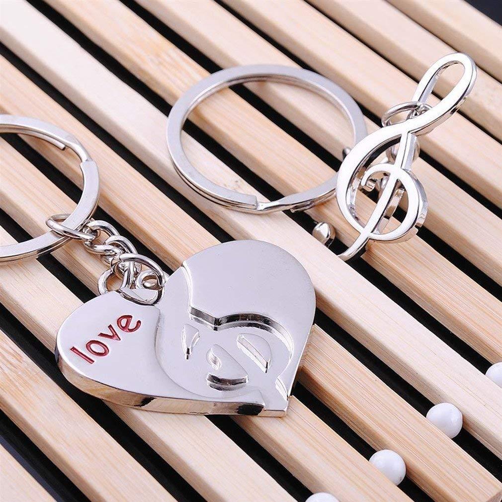 2pcs Couple Porte-cl/és Homme Femme Alliage Romantique Porte-cl/és Cadeau pour Les Amoureux de la Saint-Valentin par TheBigThumb Style A