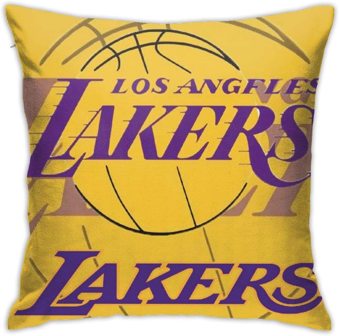 Amazon Com Franklin Sports Los Angeles Lakers Soft Cushion Covers Comfortable Decorative Square Throw Pillow Covers For Sofa Bedroom 18 X 18 Inch Home Kitchen