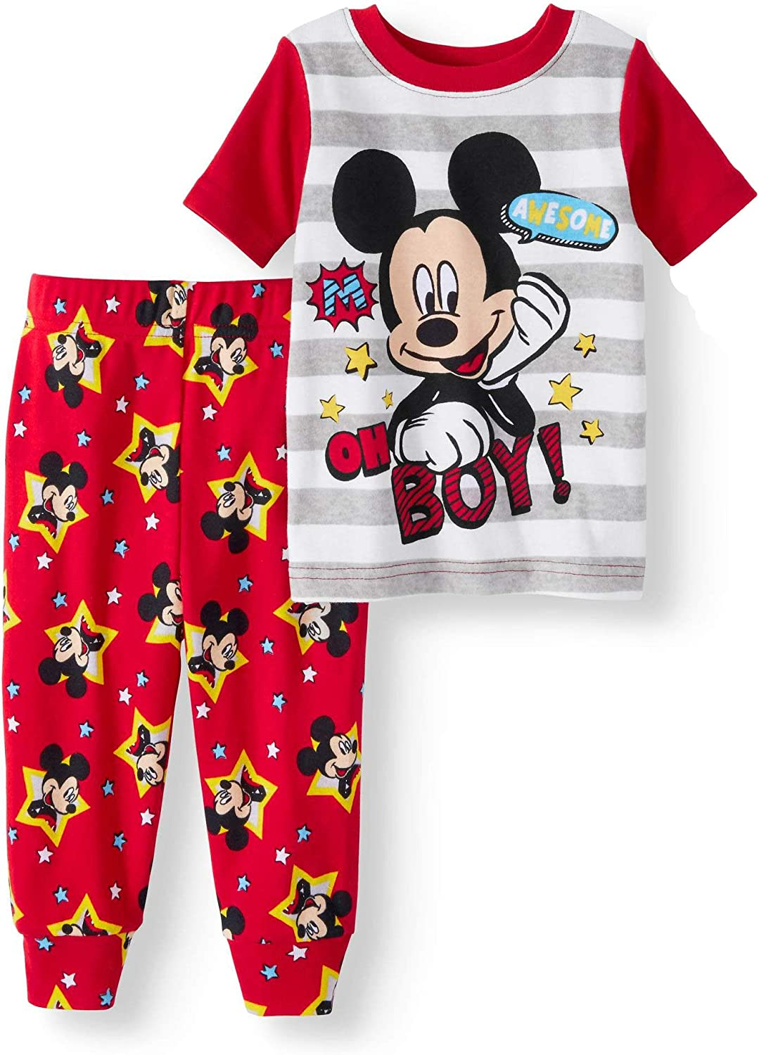 2pc Kids Baby Boys Mickey Mouse Short Sleeve T-shirt+Casual Pants Clothes Sets