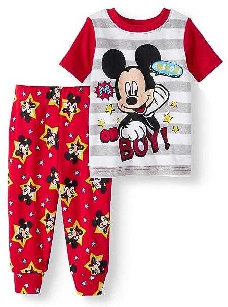 4bc06416b937 Amazon.com  Mickey Mouse Awesome Oh Boy! Baby Boys 2 Piece Sleepwear ...