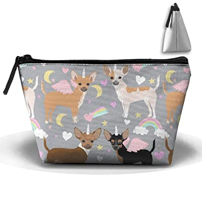 Chihuahua Dogs Unicorn Toiletry Bag-Portable Travel Organizer Cosmetic Make Up Bag Case For Women Men Shaving Kit With Hanging Hook free shipping