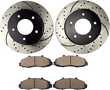 Max Performance Ceramic Brake Pads F+R See Desc. 1999 2000 Ford F-150