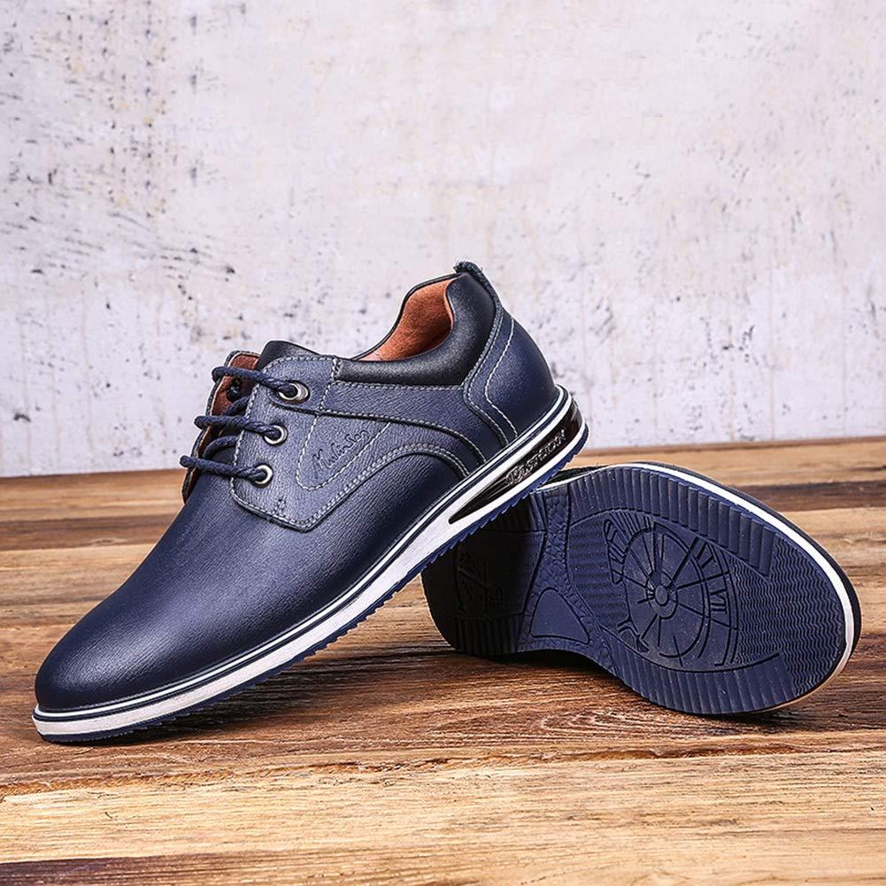 LXLA - Männer schnüren Sich Oben Geschäfts-beiläufige lederne Schuhe, runde runde runde Hauptschuhe der Männer für Männer (Farbe   Blau, größe   9.5 US 8.5 UK) 07b54c