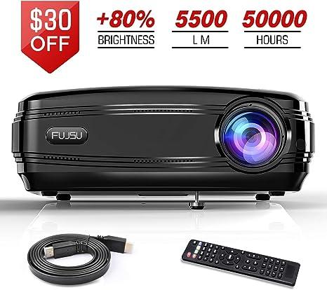 Proyectores de vídeo, FUJSU Proyector Overhead 1080P Full HD ...