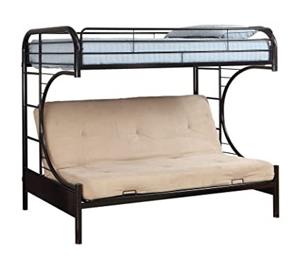 Amazon Com Furniture Of America Metal Twin Over Futon Bunk Bed