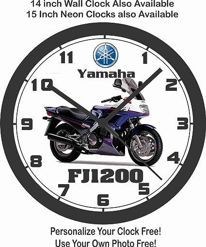 1992 Yamaha FJ1200 de moto pared clock-honda, Kawasaki, Suzuki