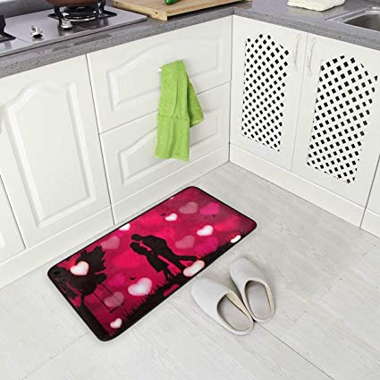Image ofBLSYP Kitchen Rugs Valentine's Love Non-Slip Soft Kitchen Mats Bath Rug Runner Doormats Carpet for Home Decor(28)