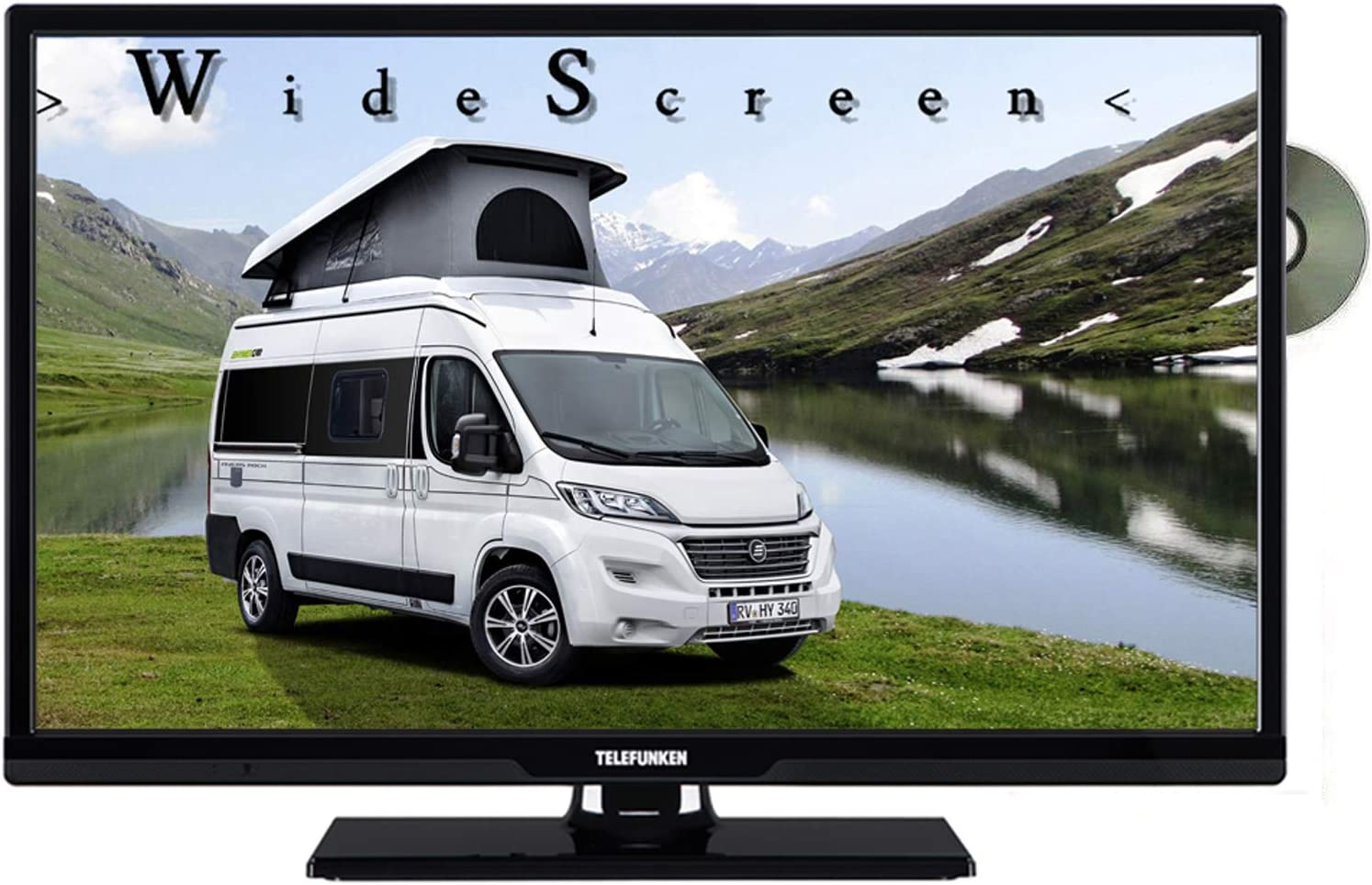 Telefunken l24h274dvd LED TV de 24 Pulgadas 61 cm Widescreen Pantalla, TV con DVB-S/S2, DVB-T2, DVB-C, DVD, USB, Clase de eficiencia energética A +, 12 V 230 V: Amazon.es: Electrónica
