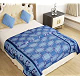 Home Candy Warm and Soft Comfortable Polyester Double Bed Blanket - Multicolor