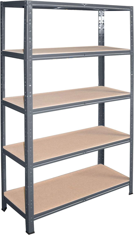 entrep/ôts garage grenier atelier maison shelfplaza/® HOME /Étag/ère charge lourde m/étallique anthracite de 180x70x50 cm avec 5 tablettes