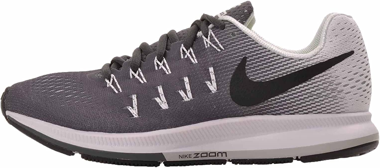 Nike Air Zoom Pegasus 33 - Zapatillas de running para mujer, color gris  oscuro, negro y blanco