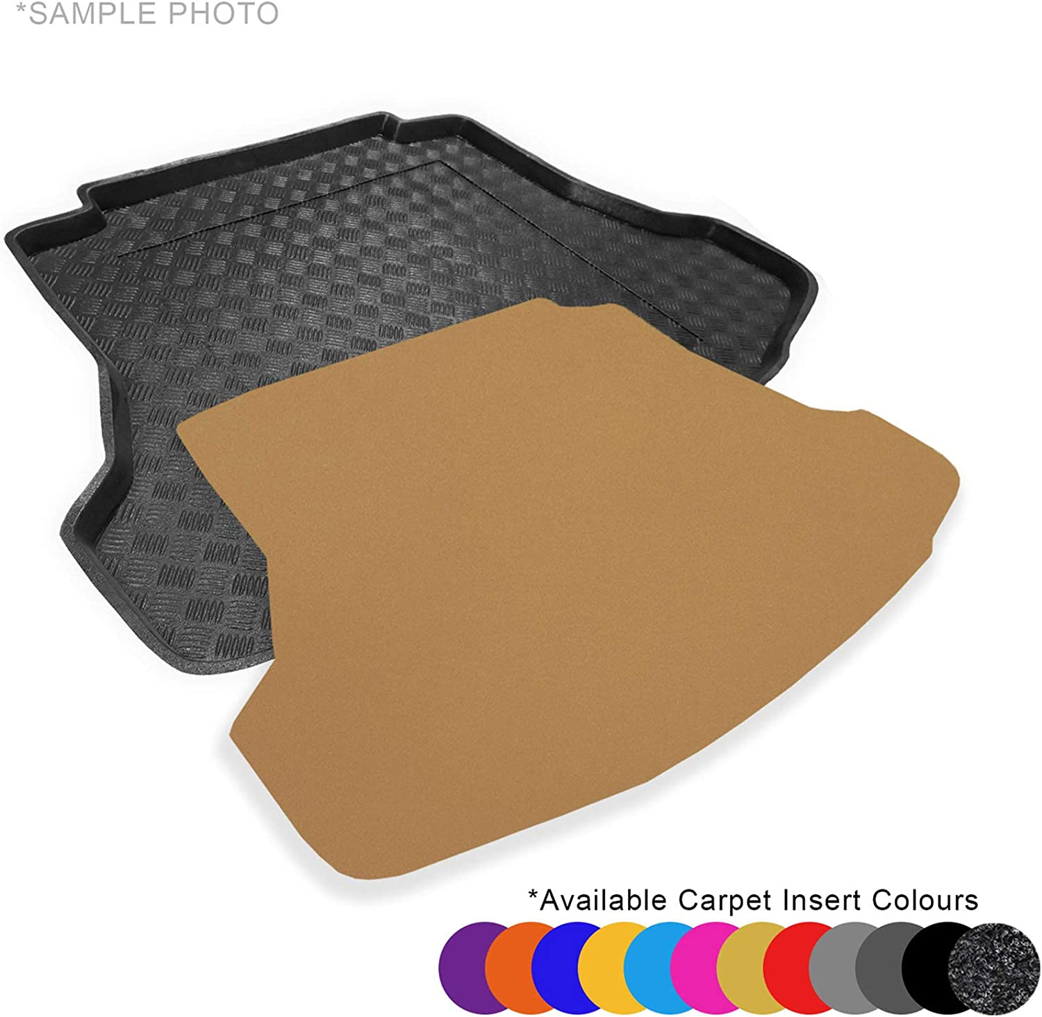 Fully Tailored PVC Boot Liner//Tray FREE Anthracite Carpet Insert CARMATS4U.COM S60 Saloon 2018