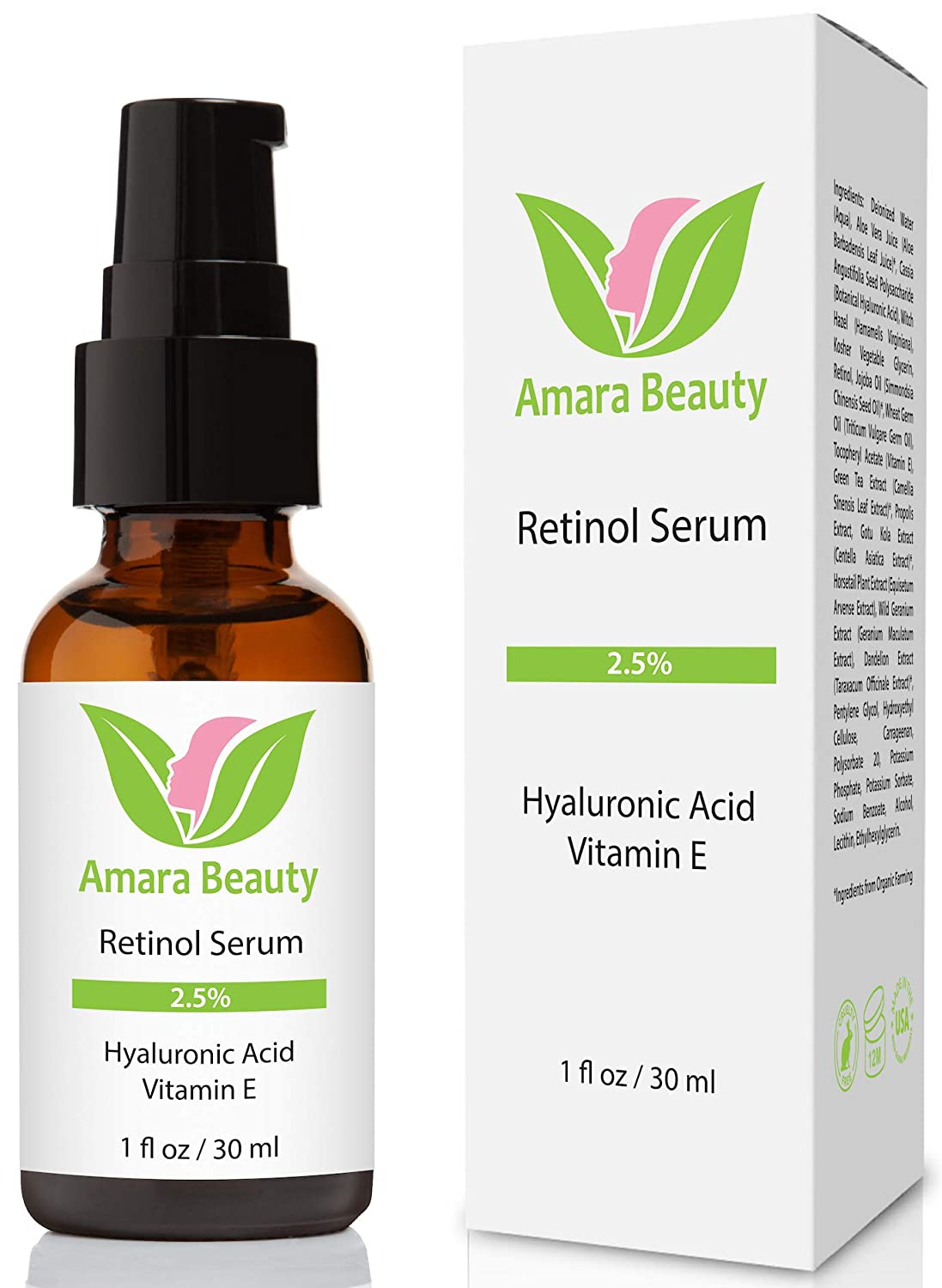 Retinol Serum 2.5% with Hyaluronic Acid & Vitamin E
