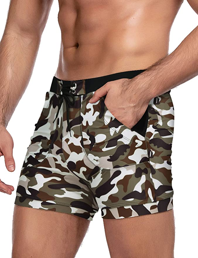COOFANDY Mens Swim Trunk Swimming Short Swimsuit Swimwear Boardshort with Pocket